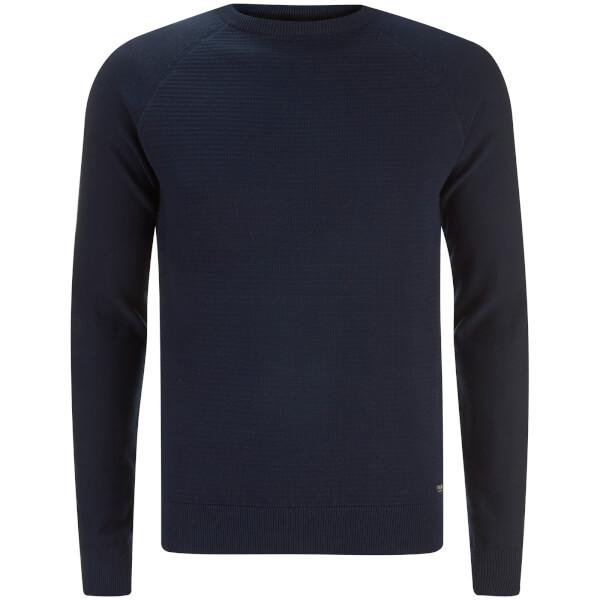 Threadbare Men's Turner Stripe Knit Jumper - Blue