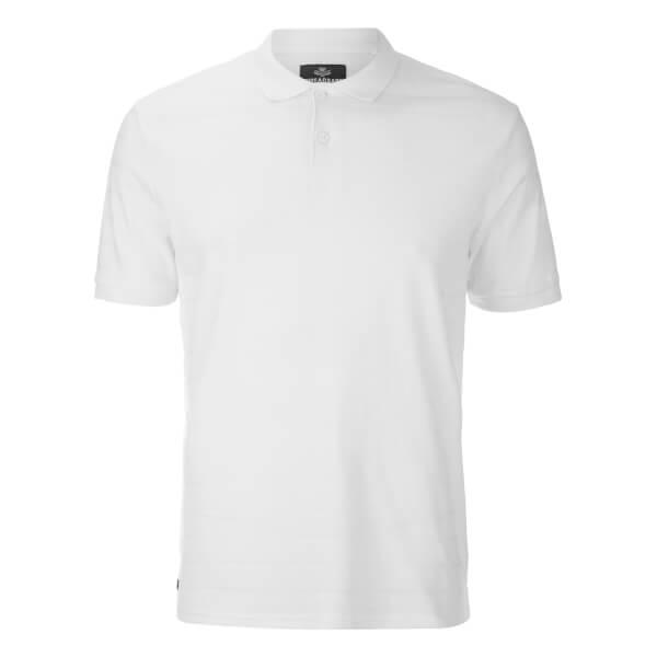 Threadbare Men's Stockton Textured Polo Shirt - White