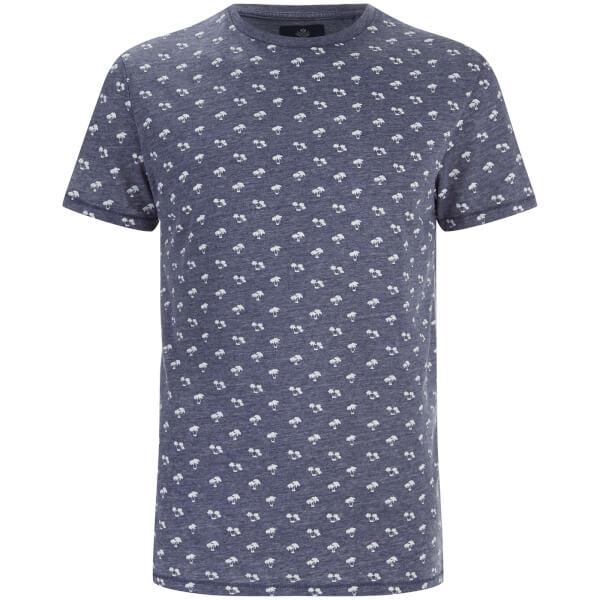 T-Shirt Homme Etna Palmier Threadbare -Marine