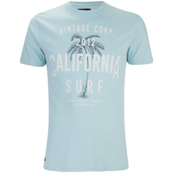 T-Shirt Homme Paradise Col Rond Threadbare -Bleu