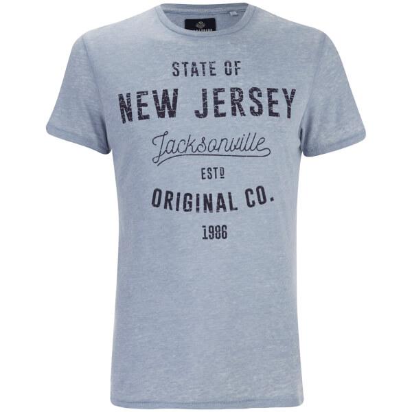 T-Shirt Homme State Col Rond Threadbare - Bleu