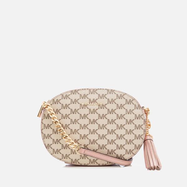 bb5f433b4077 MICHAEL MICHAEL KORS Women's Ginny Medium Messenger Bag - Natural/Fawn:  Image 1