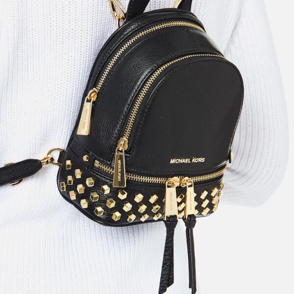 a6bc13248cde ... inexpensive michael michael kors womens rhea zip studded xs messenger backpack  black image 3 cb909 4110e