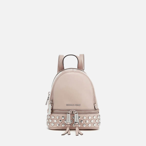 95a6b2069af314 MICHAEL MICHAEL KORS Women's Rhea Zip Studded XS Messenger Backpack -  Cement: Image 1
