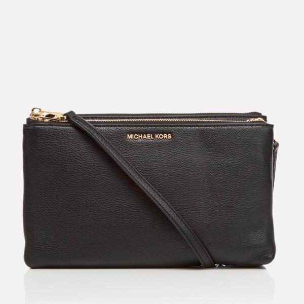 MICHAEL MICHAEL KORS Women's Adele Double Gusset Cross Body Bag - Black