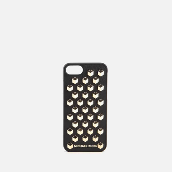 MICHAEL MICHAEL KORS Women's Electronic Leather Studded iPhone 6 Cover - Black
