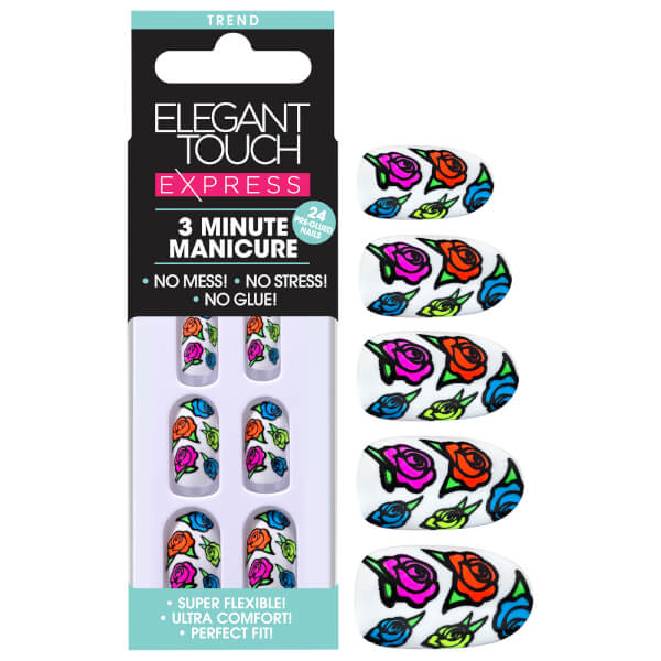 Elegant Touch Express Trend Nails - Neon Roses