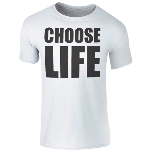 Men's Choose Life Black Logo T-Shirt - White