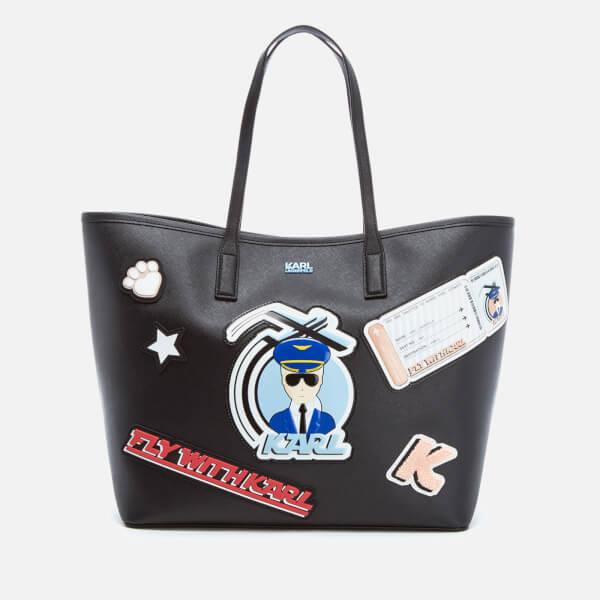 Karl Lagerfeld Women's K/Jet Karl Shopper Bag - Black