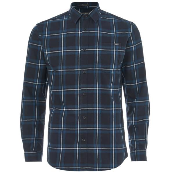 Jack & Jones Originals Men's Larson Long Sleeve Check Shirt - Total Eclipse