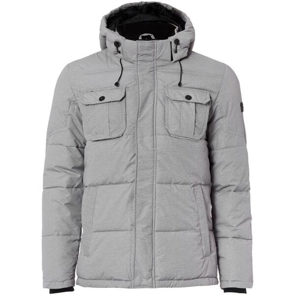 Jack & Jones Core Men's Wills Ultimate Padded Jacket - Light Grey Melange:  Image 1