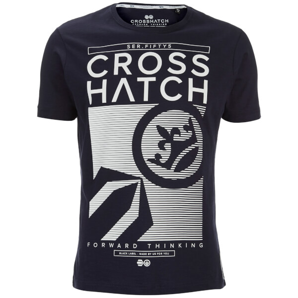 T-Shirt Homme Kilo Textured Crosshatch -Bleu Nuit