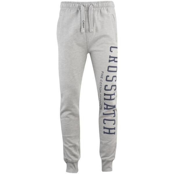 Pantalon Homme Flunk Logo Crosshatch -Gris Clair
