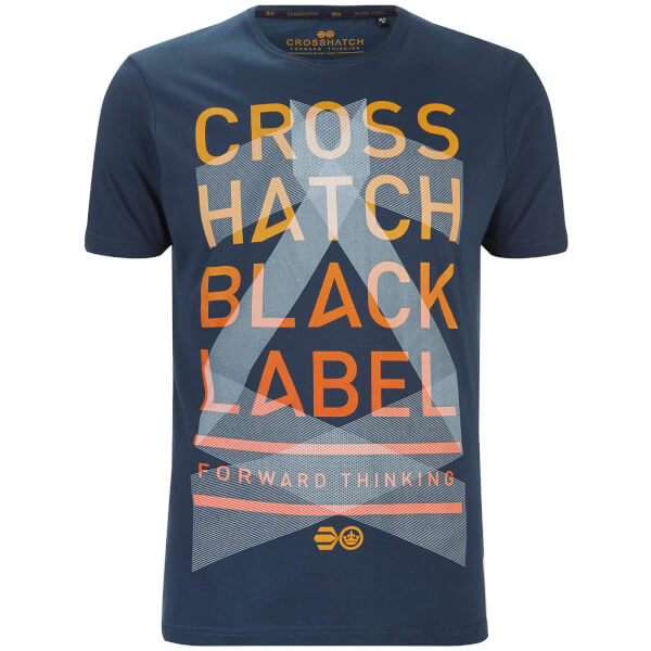T-Shirt Homme Penn Black Label Crosshatch -Bleu Nuit