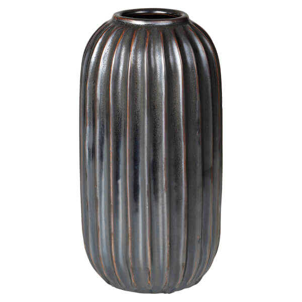 broste copenhagen lines stoneware vase homeware. Black Bedroom Furniture Sets. Home Design Ideas