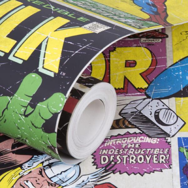 Marvel avengers breakout retro wallpaper iwoot - Marvel retro wallpaper ...