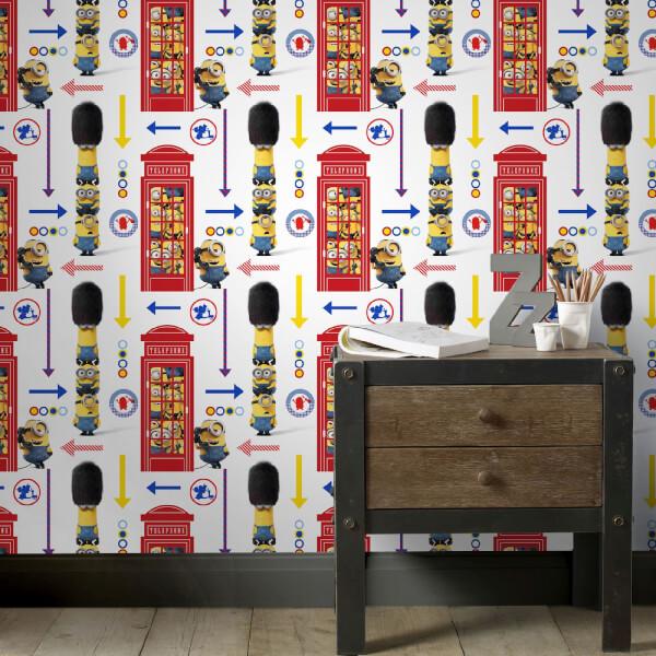 Universal Minions Despicable Me Hello London Multi Wallpaper