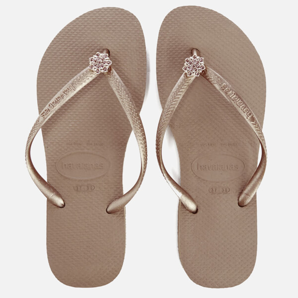 6cd7b57ac436 Havaianas Women s Slim Swarovski Crystal Poem Flip Flops - Rose Gold  Image  1
