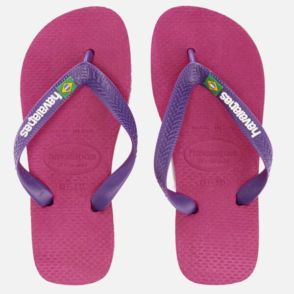 havaianas H Brasil Raspberry Rose Flip Flops Uk Size 89 Eu 4142 Free Postage