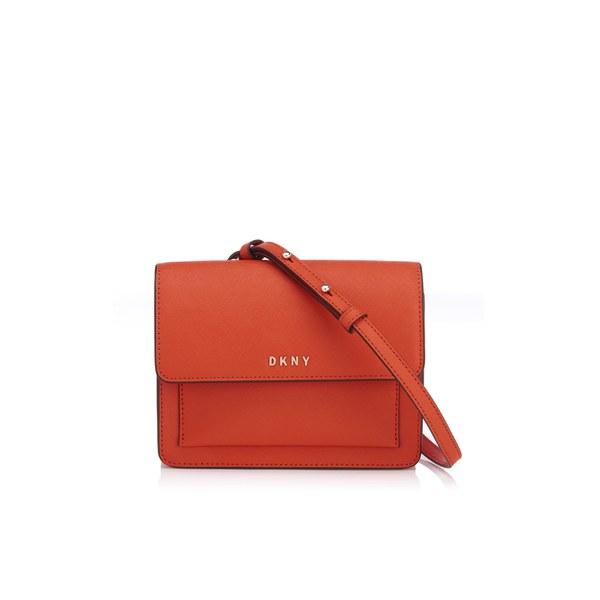 a099fd59f84 DKNY Women s Bryant Park Mini Flap Cross Body Bag - Orange  Image 1
