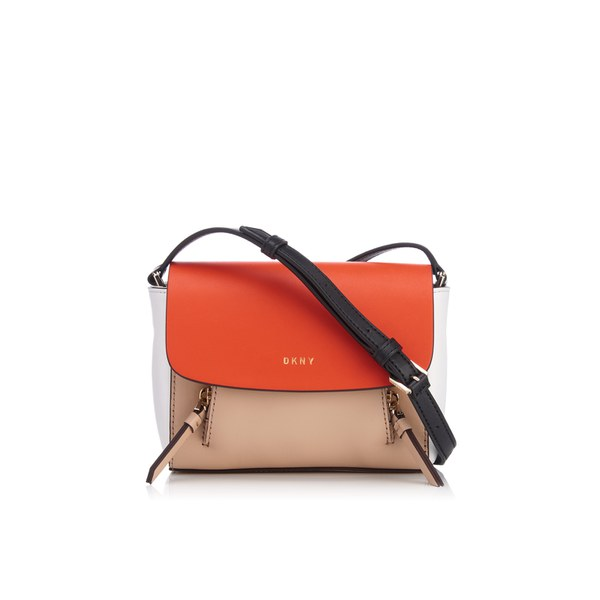 DKNY Women's Greenwich Smooth Mini Messenger Bag - Nude/Orange