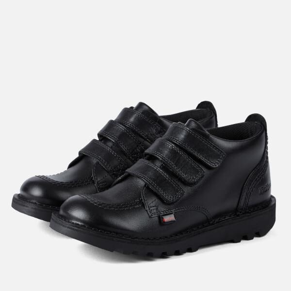 Kickers Kids' Kick 3 Strap Boots - Black