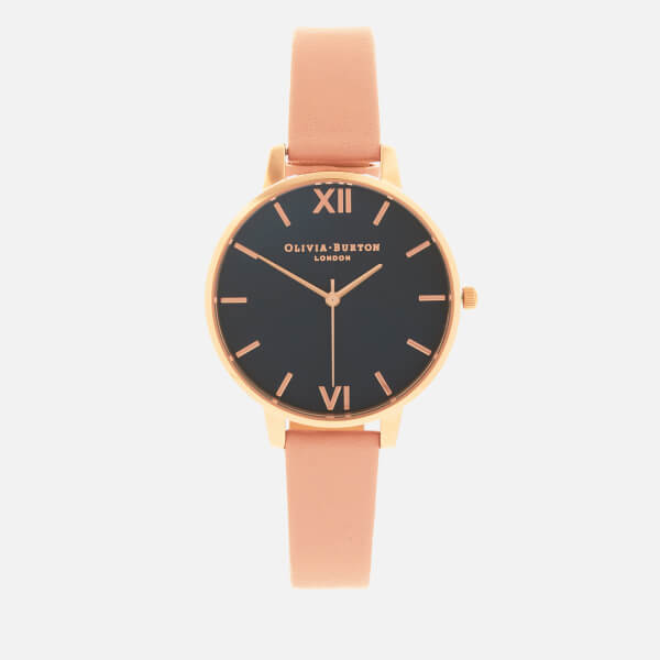 Olivia Burton Women's Big Dial Watch - Midnight, Dusty Pink/Rose Gold