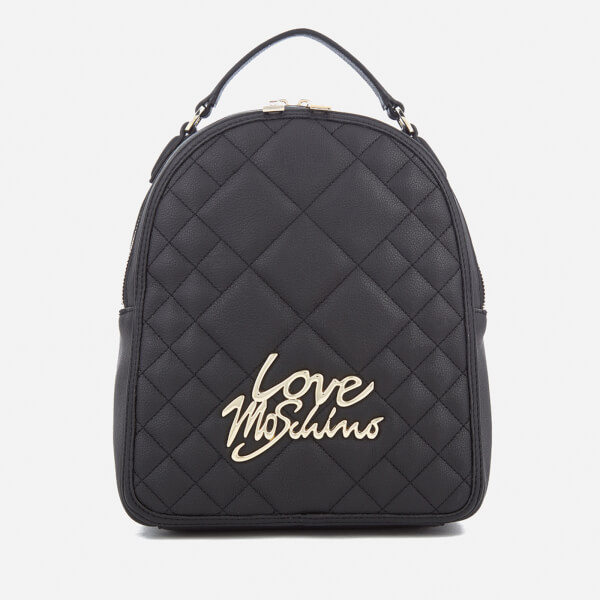 love moschino women 39 s matt quilted backpack black. Black Bedroom Furniture Sets. Home Design Ideas