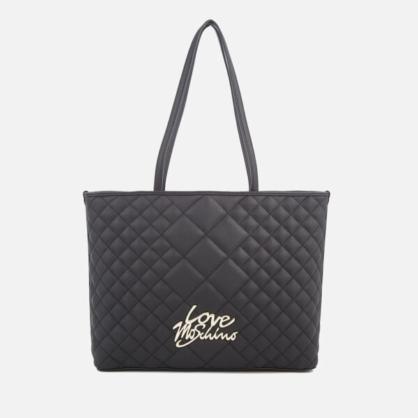 Love Moschino Women's Matt Quilted Shopper Tote Bag - Black