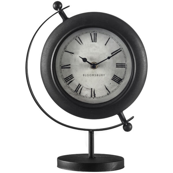 Mantle Clock - Antique Black Metal