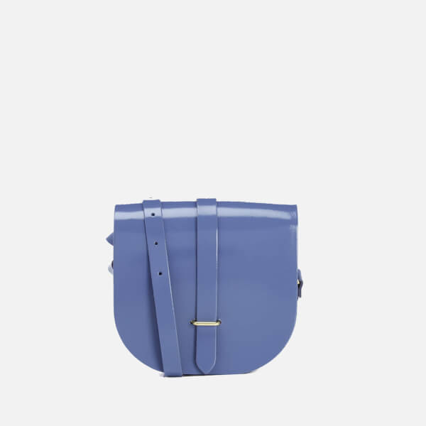 The Cambridge Satchel Company Women's Saddle Bag - Patent Dusk Blue