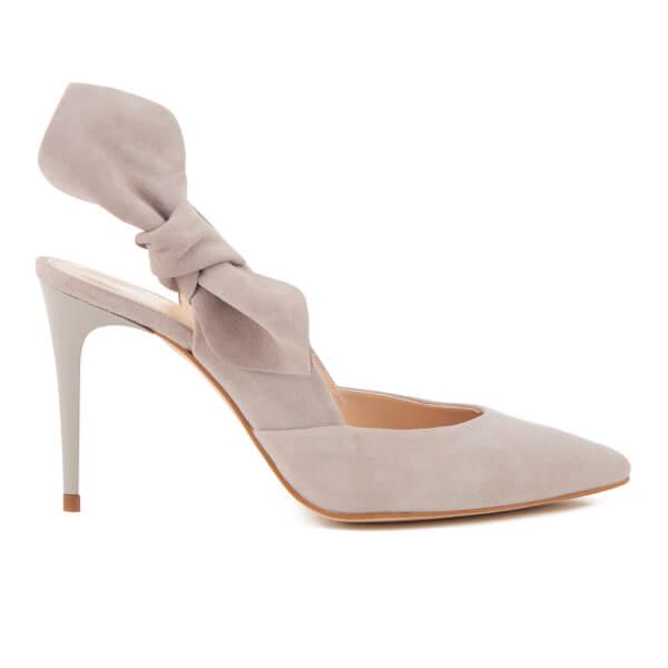 Carvela Women's Ava Suede Sling Back Heeled Court Shoes - Grey