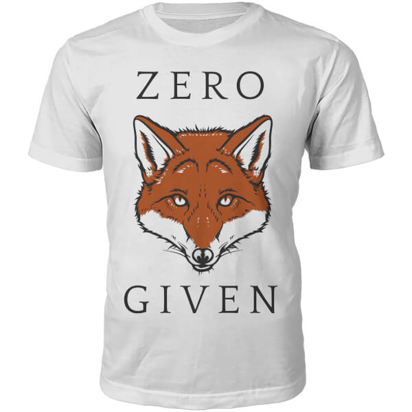 Zero Fox Given Slogan T-Shirt - White