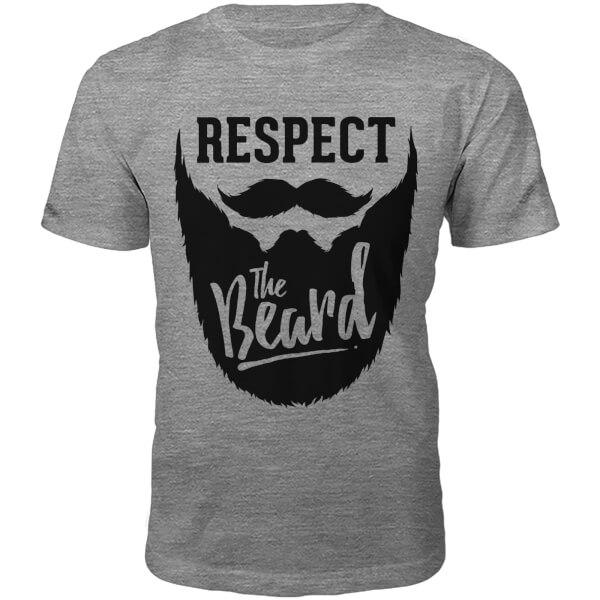 T-Shirt Unisexe Respect The Beard -Gris