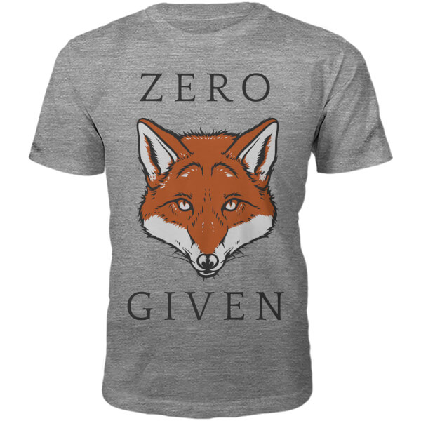 T-Shirt Unisexe Zero Fox Given -Gris