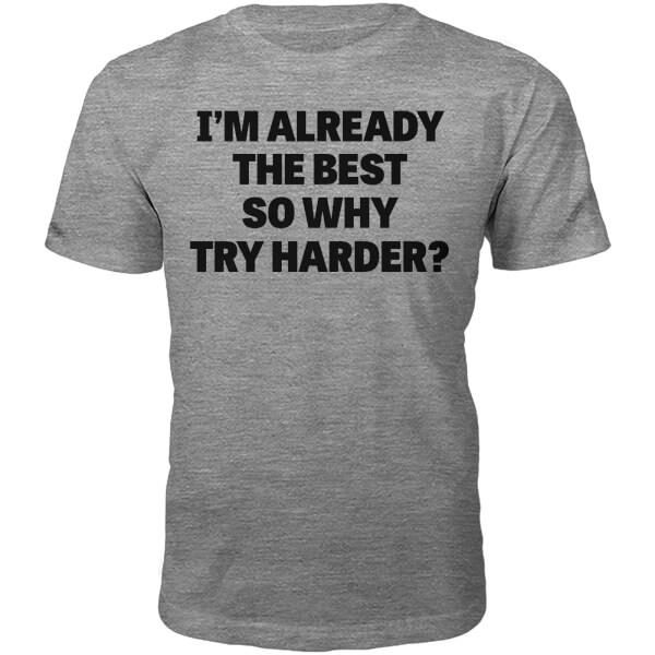The Best Slogan T-Shirt - Grey