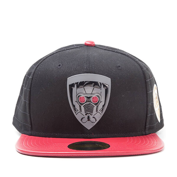 Marvel Guardians of the Galaxy Vol. 2 Star Lord Snapback Cap - Black/Red