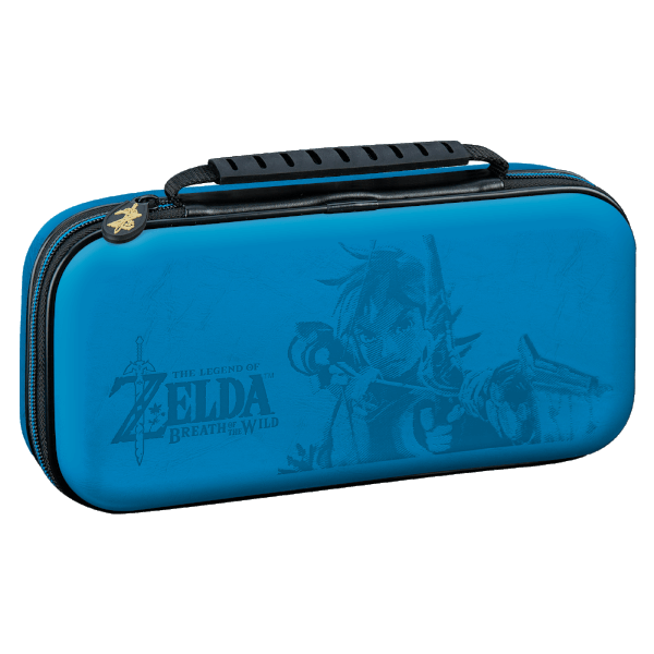 Official nintendo switch zelda travel case blue games for Housse nintendo switch