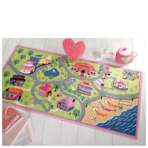 Tapis Flair Matrix Kiddy Village Heureux - Rose