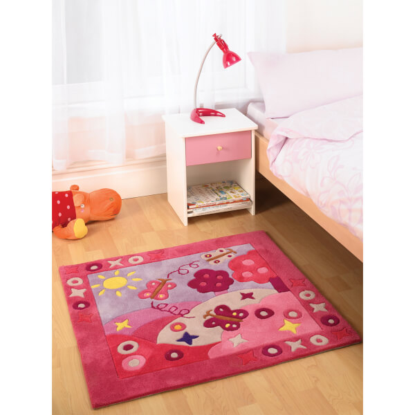 Flair Kiddy Play Rug - Summertime Girl (90X90)
