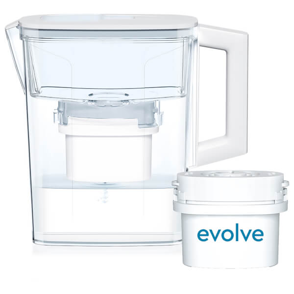 Aqua Optima 2.1L White Compact Water Filter Jug with 30 Day Evolve Filter Cartridge (1 Month Starter Pack)