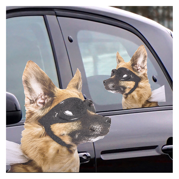 Ride With Car Stickers - Dog