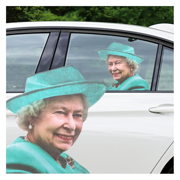 Ride With Car Stickers - The Queen