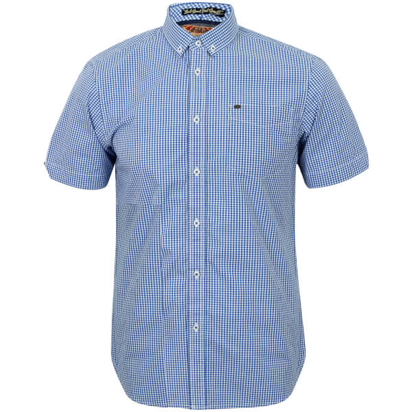 Tokyo Laundry Men's Lorente Short Sleeve Shirt - Ocean Blue