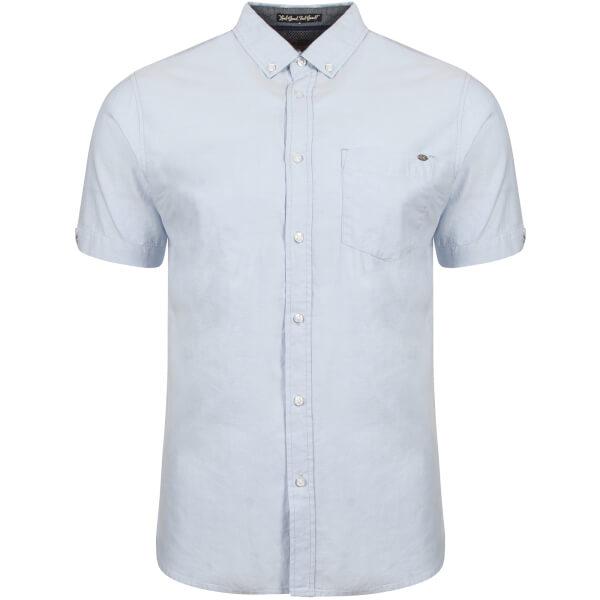 Tokyo Laundry Men's Woodbury Short Sleeve Oxford Shirt - Placid Blue