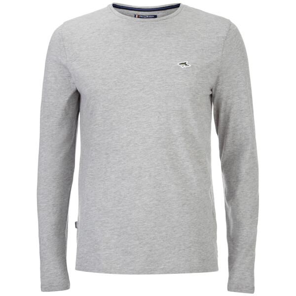 Le Shark Men's Gifford Long Sleeve T-Shirt - Light Grey Marl