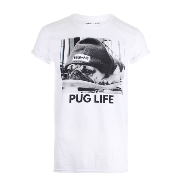 Doug The Pug Women's Pug Life T-Shirt - White