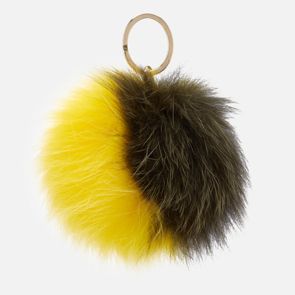 Furla Women's Bubble Pom Pom Bicolor Keyring - Salvia and Giallo