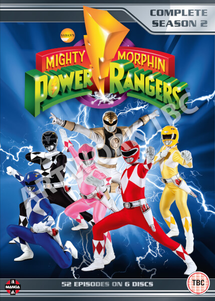 mighty morphin power rangers season 2 dvd zavvi. Black Bedroom Furniture Sets. Home Design Ideas