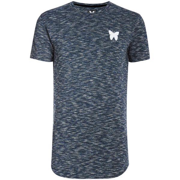 Good For Nothing Men's Textured Rib T-Shirt - Navy